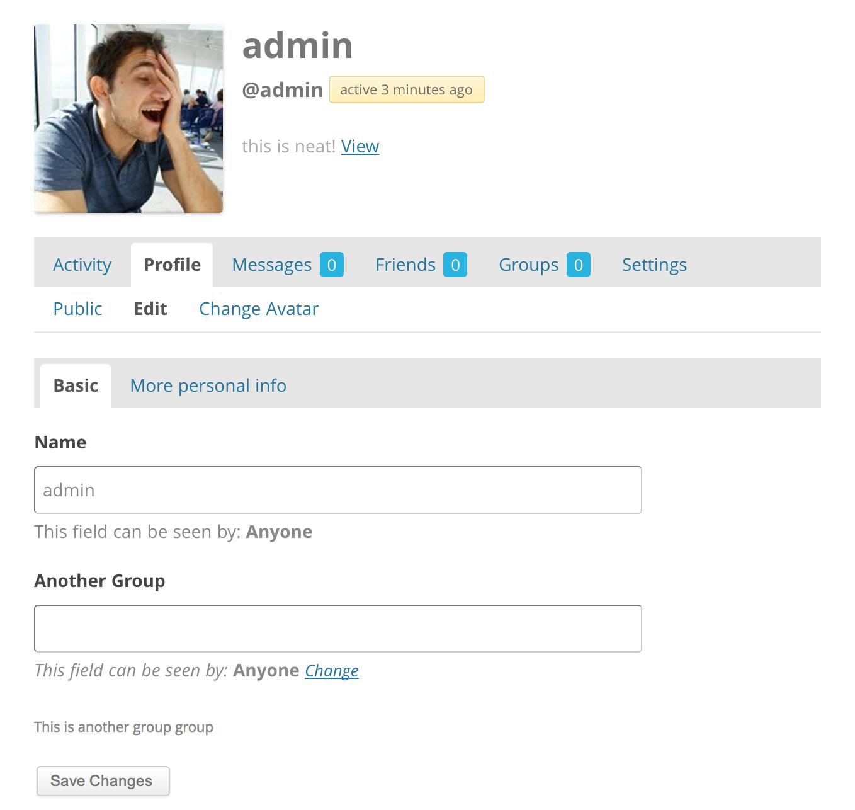 4605 Edit Profile Page Buddypress Trac
